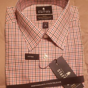 Long Sleeve Stafford Dress Shirt NWT